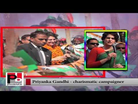 Charismatic Congress star campaigner Priyanka Gandhi