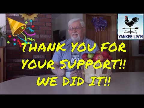 Thank You For Your Support !!  WE DID IT!!