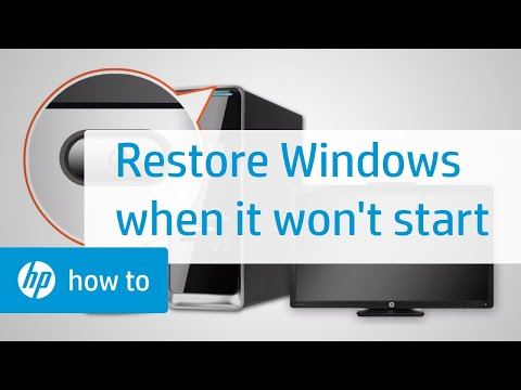 How To Restore Windows When Windows Cannot Start Normally
