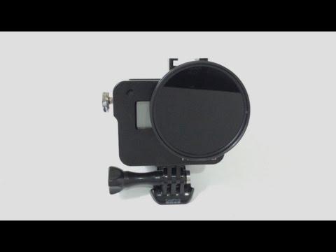 Gopro hero 5 w/ Filter ND & CPL 58mm FOV test Vignetting video photo