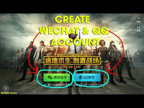 PUBG Mobile Tencent - Full Clip Create QQ & Wechat Account || Full Link Download IOS & Android