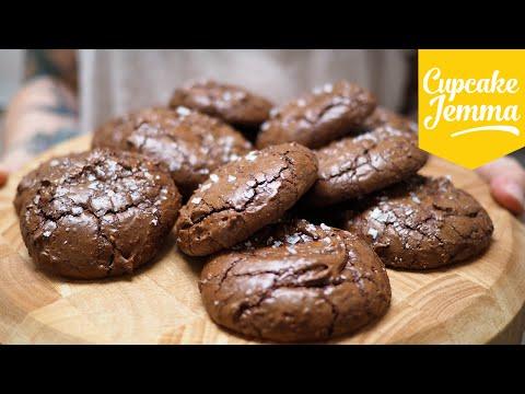 Salted Chocolate Brownie Cookies | Cupcake Jemma