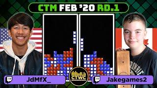 RECORD HIGHEST COMBINED SCORE AT CTM!! FEB 2020 - ROUND 1 - Joseph vs. Jake - Classic Tetris Monthly