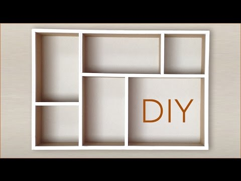 DIY How to make a drawer organizer  using the small pieces of recycled cardboard  and paper HD