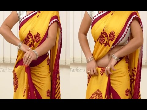 How To Wear Saree Perfectly Step By Step | DIY Saree Draping
