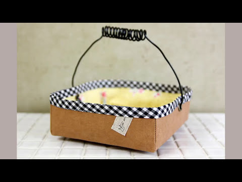 Shine Sewing Tutorial Fabric Basket