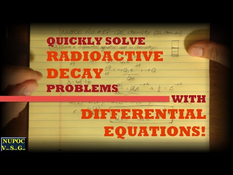NUPOC VSG #87 - Differential Equations for Radioactive Decay