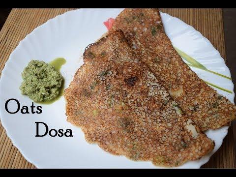 Instant Oats Dosa Recipe    Diabetic  Friendly Recipe   Healthy Breakfast   Oats Crepe   Crispy Oats