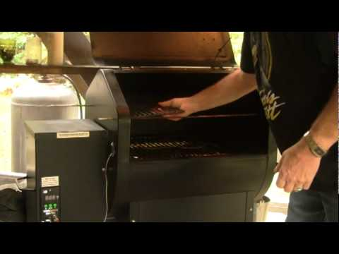 Pellet Smoking Beef Jerky Part 1 of 4 - Setting up the grill