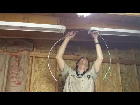 Installing Shop Lights Part 1