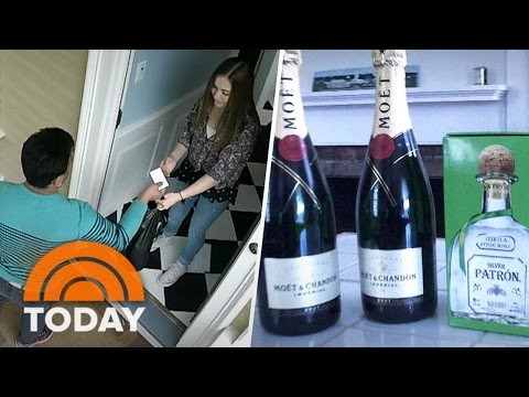 New Teen Alcohol Warning: Deliveries Captured On Hidden Camera | TODAY