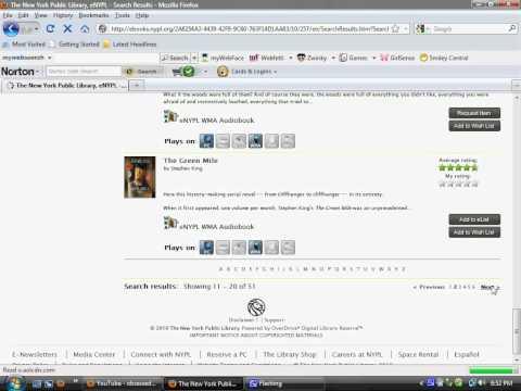 Tutorial-Public Library E-Books To E-reader
