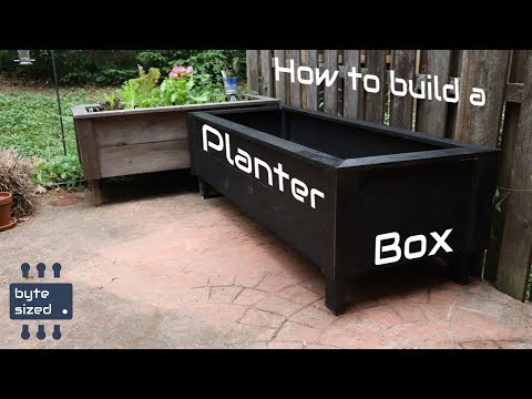How to build a simple planter box