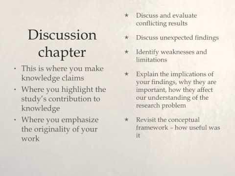 writing dissertation discussion