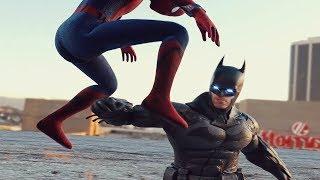 Download COSMIC SPIDER-MAN vs GOD GOKU v SPIDER-MAN HOMECOMING v BATMAN v SUPERMAN INJUSTICE 2 Style FIGHT Video