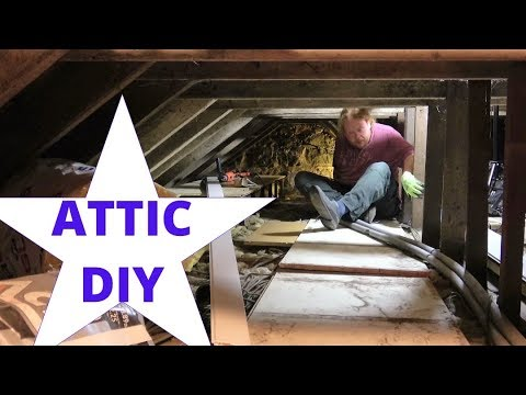 Insulating and Flooring the Attic using Loft Lifters / DIY