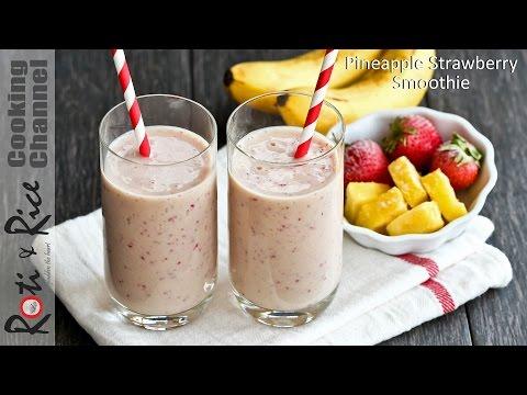 Pineapple Strawberry Smoothie | Roti n Rice