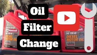 How To Do An Oil Change On A Diesel 67 Liter 201120122013 Ford F350 S