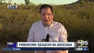 Firework season and wildfire danger