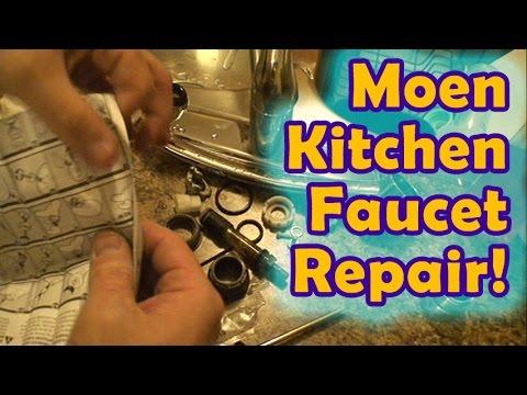Easy Moen Leaking Kitchen Faucet Repair!
