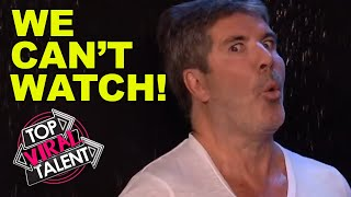 TOO CLOSE TOO SCARY!! When SIMON COWELL RISKED HIS LIFE In BRITAINS GOT TALENT Auditions!