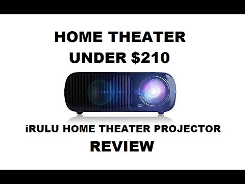 iRULU Home Theater Projector with Android REVIEW - Home Cinema Projector Under $210