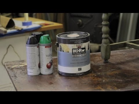 Paint to Use When Painting Wood Furniture : Furniture Repair & Refinishing