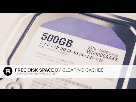 After Effects: Clear Disk Cache to Save Hard Drive Space