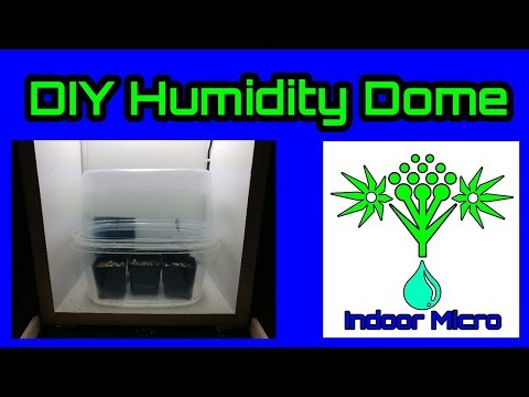 How to Make a DIY Clone Cutting Propagation Seedling Germination Humidity Dome Box Environment