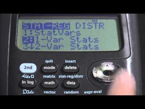 TI-36X Pro Mean-Standard_Deviation-Variance