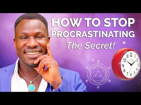 How to Stop Procrastinating And Get It Done (Law of Attraction!) Powerful!