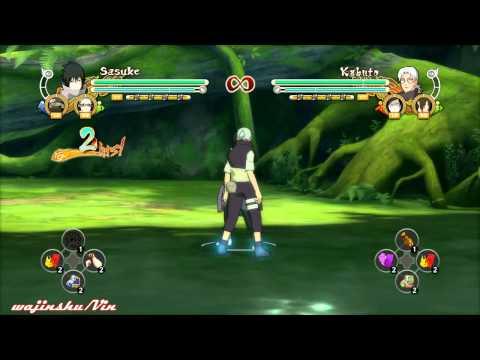 Naruto Ultimate Ninja Storm 3 EMS Sasuke Moveset/Movelist English