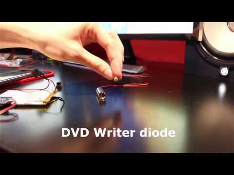 How to make 2$ a powerful burning laser  from DVD Writer / Burner [DIY]