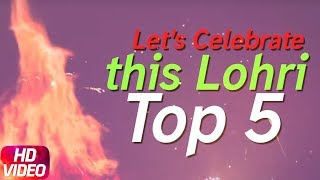 Let's Celebrate The Lohri | Top 5 Punjabi Songs 2018 | Speed Records