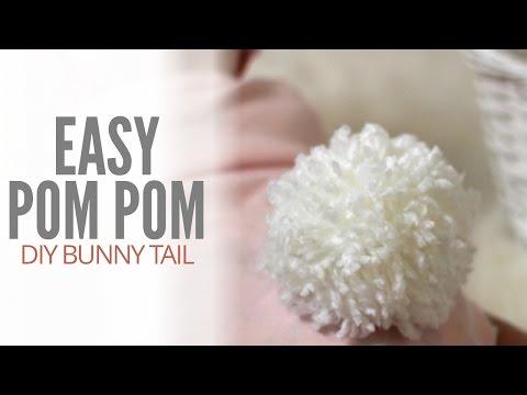 Easy DIY Yarn Pom Pom Bunny Tail | MAKE