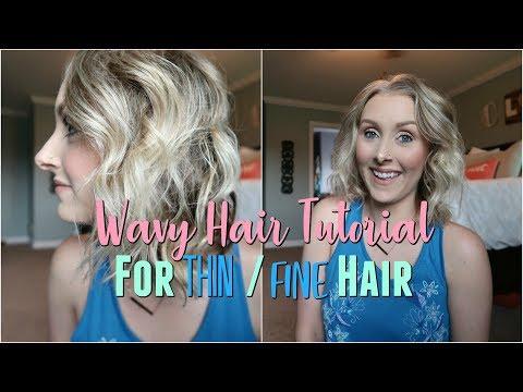Wavy Hair Tutorial for THIN-FINE Hair/Easy 5 Min Hairstyle/Beachy Waves