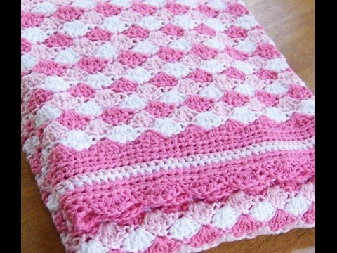 Shell stitch - shell blanket - shell - crochet English