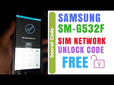 100% Tested | Samsung g532f how to unlock | Samsung g532f Network Pin Unlock By Free | Secret Code |