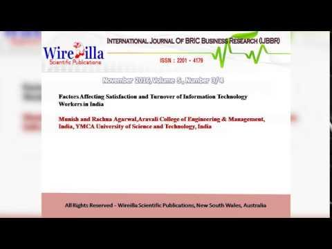 International Journal of BRIC Business Reserach (IJBBR)