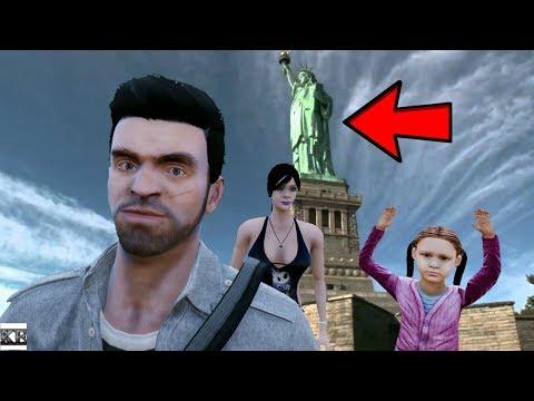 GTA 5 TREVOR REAL LIFE MOD #3 FAMILY TRIP TO NEW YORK (LIBERTY ISLAND)
