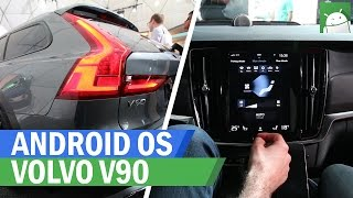 Android bulit-in to the Volvo V90 Cross Country