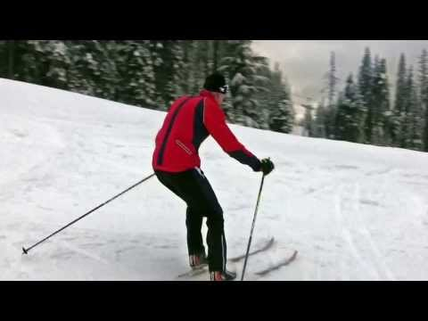 Improve your intermediate christie on cross country skis