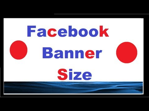 How to make a Facebook banner the right size