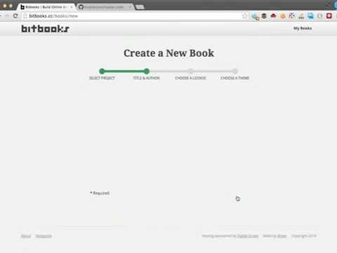 How to make an online book using Bitbooks