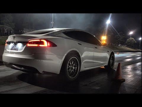 Slicks on a Gutted Tesla P100D - Is it Faster!?