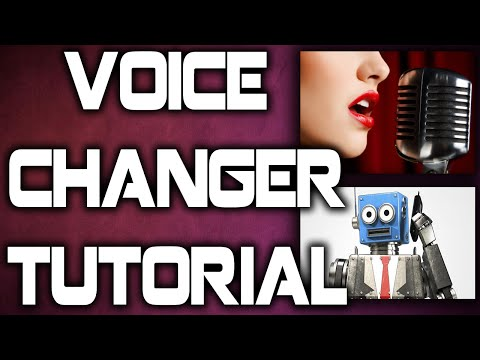 How To Change Your Voice Into A Female Or Robot Voice - Simple and Easy!
