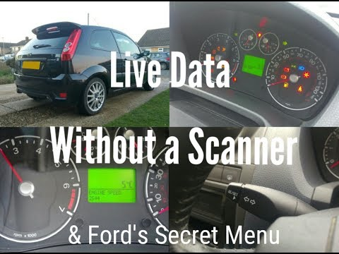 Live Data Without a Scanner - Fiesta MK6 Secret Menu