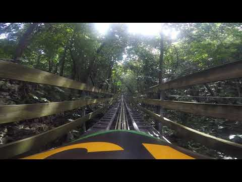 Riding the Jamaican Bobsled down Mystic Mountain in Ocho Rios
