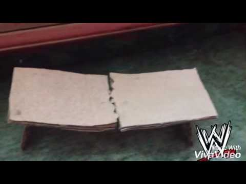 How  to make wwe breakable table for action figure