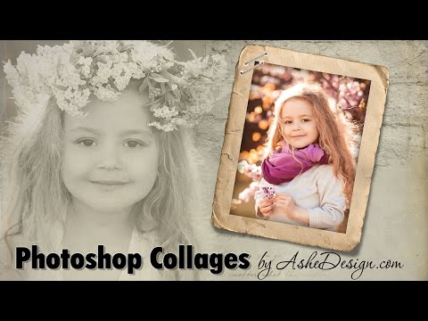 Using Photoshop Collage Templates from AsheDesign.com